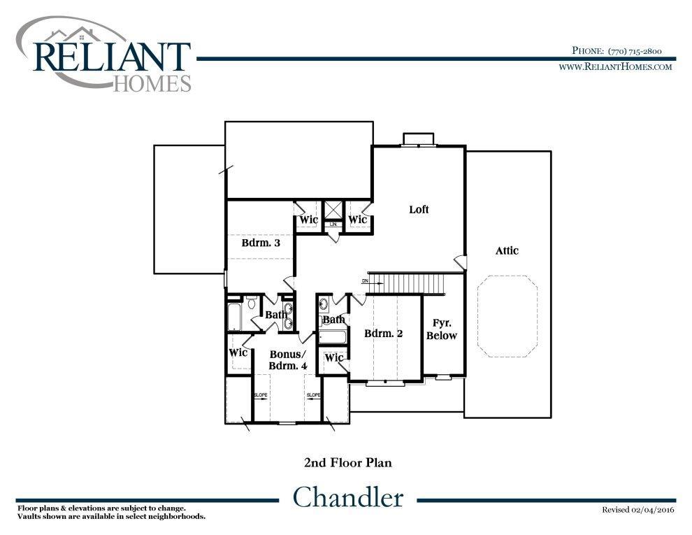 Floor plan description for Reliant homes floor plans