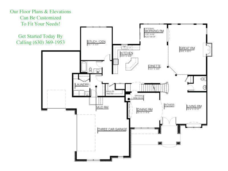 The Kaden Floor Plans Djk Custom Homes