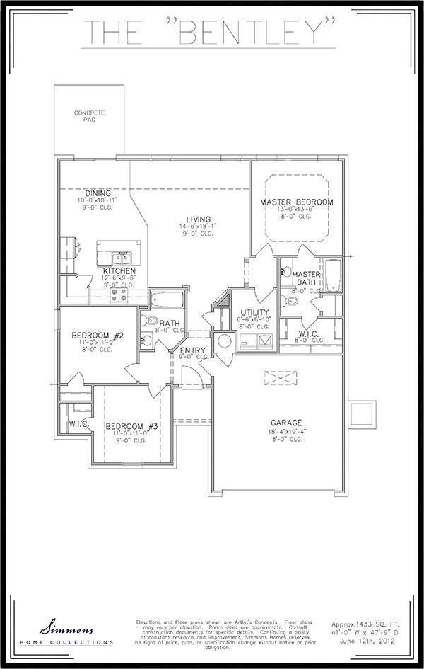 Bentley   Custom Home Builders   Simmons Homes on brick townhouse, kitchen townhouse, 2 bedroom 2 bath townhouse,