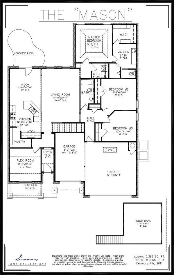 Simmons homes floor plans for Ron lee homes floor plans