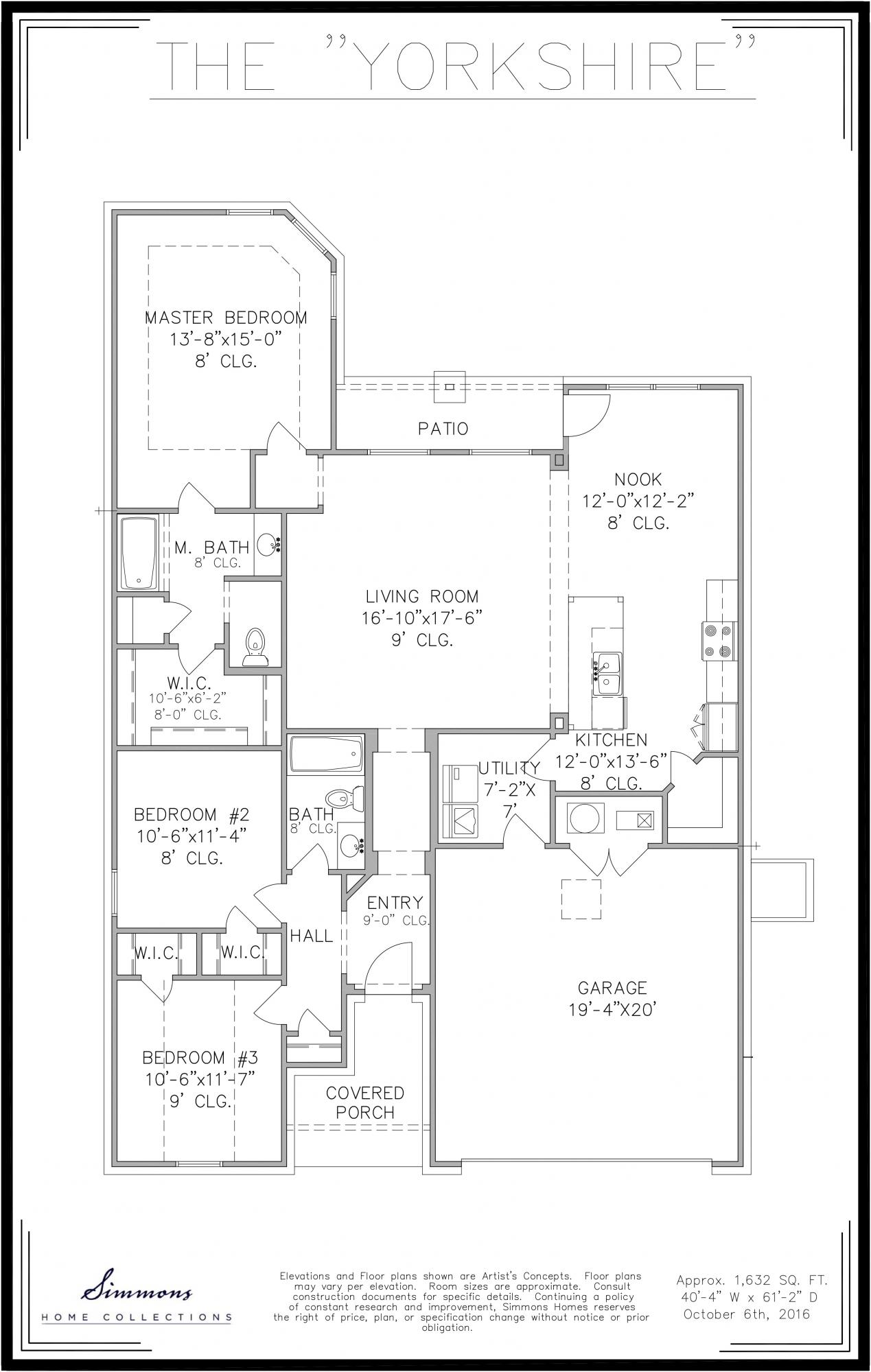simmons homes cody floor plan