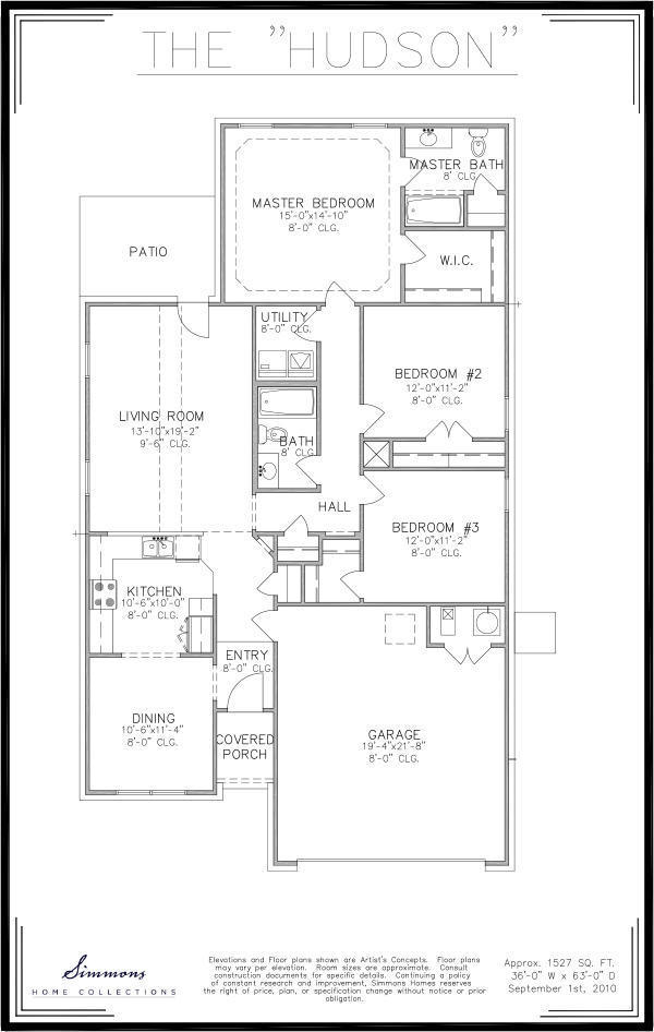Hudson custom home builders simmons homes for Simmons homes floor plans