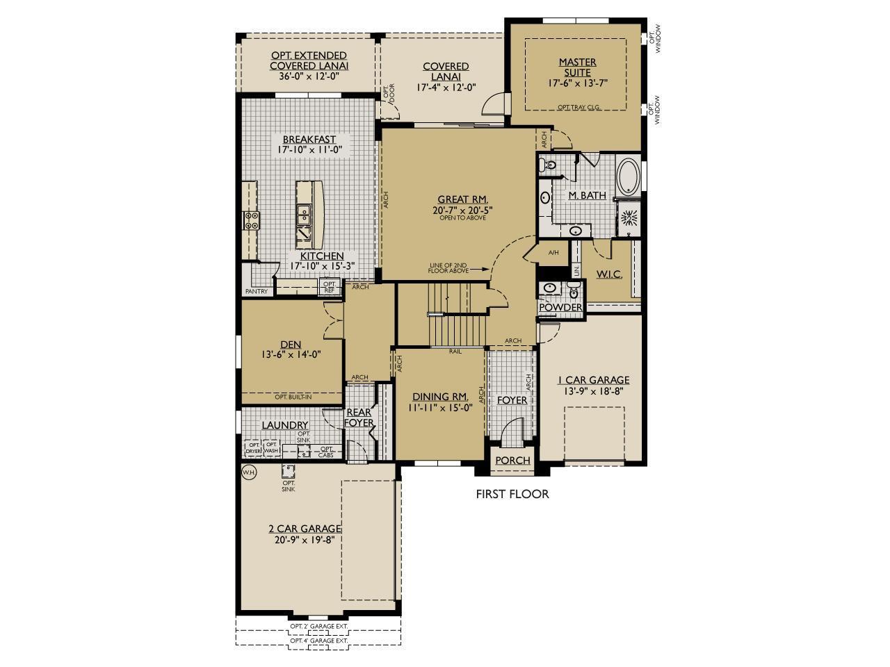 Jasmine New Home Floor Plan William Ryan Homes