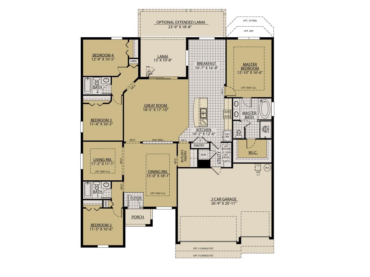 Sandestin New Home Floor Plan – William Ryan Homes Floor Plans
