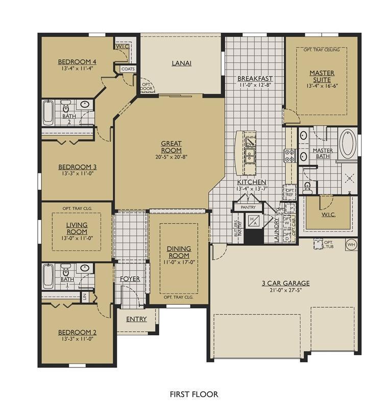 Strabane New Home Floor Plan – William Ryan Homes Floor Plans
