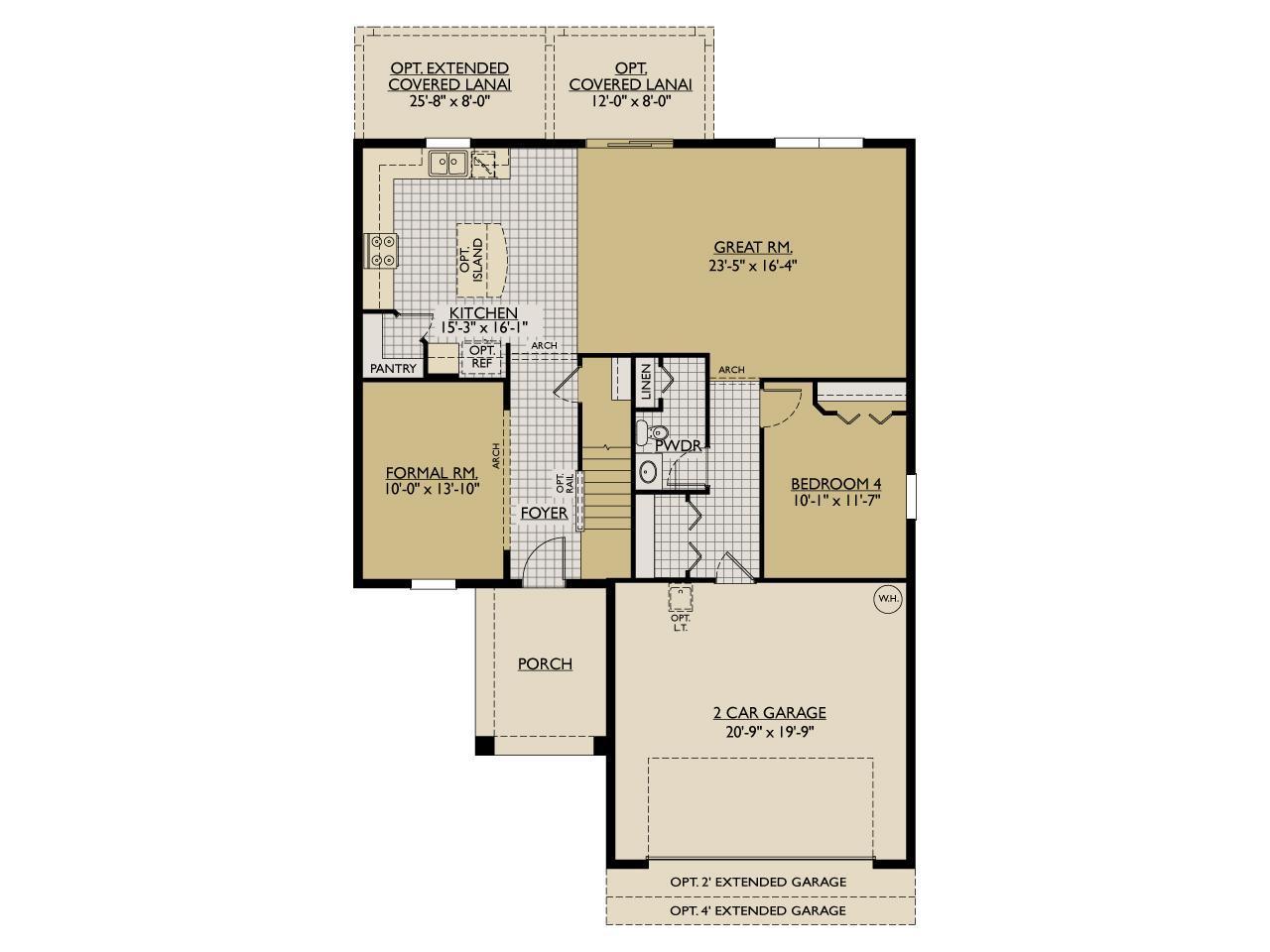 Saratoga New Home Floor Plan – William Ryan Homes Floor Plans