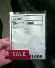 Not a happy chair