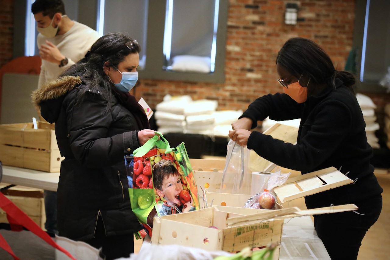 Image from the food bank at Innovation Youth
