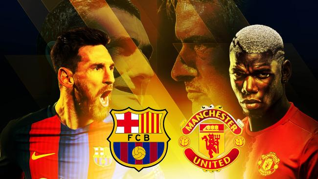 man u vs barcelona channel