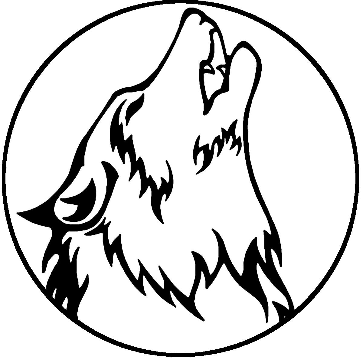 картинка для выжигания волк воет на луну можно сочетать