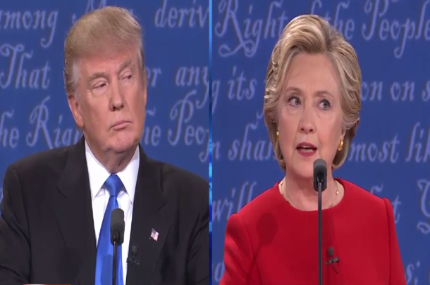 the battle between the donald trump and hillary clinton Clinton compared trump's administration to an authoritarian regime that  threatened 'the end of freedom' at an event in new york.