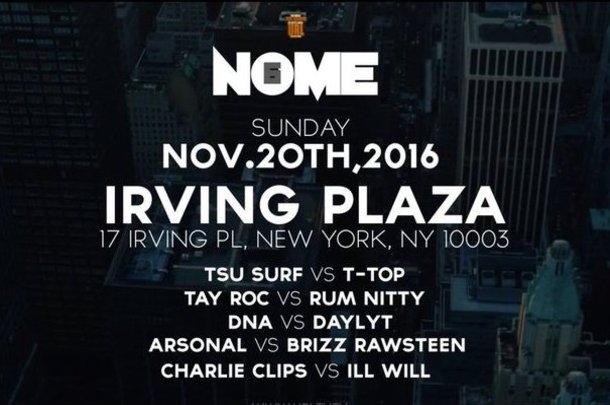 URL Announces Full Lineup For NOME 6