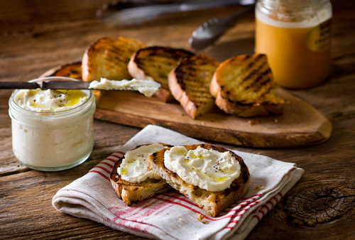 Ricotta grilled bread kary osmond