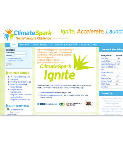 Climate spark web