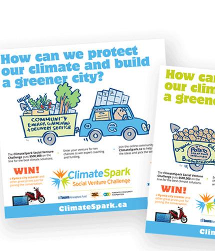 Climate spark ads