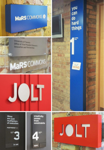 Mars commons signage