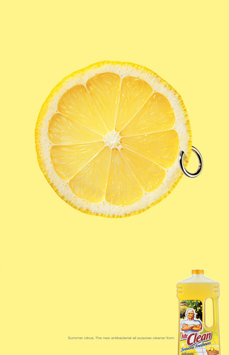 Mr clean earring lemon ad