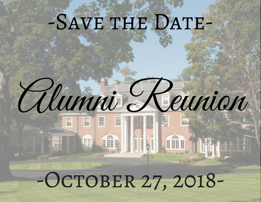 Reunion 2018 will be held on October 27, 2018 Save the Date