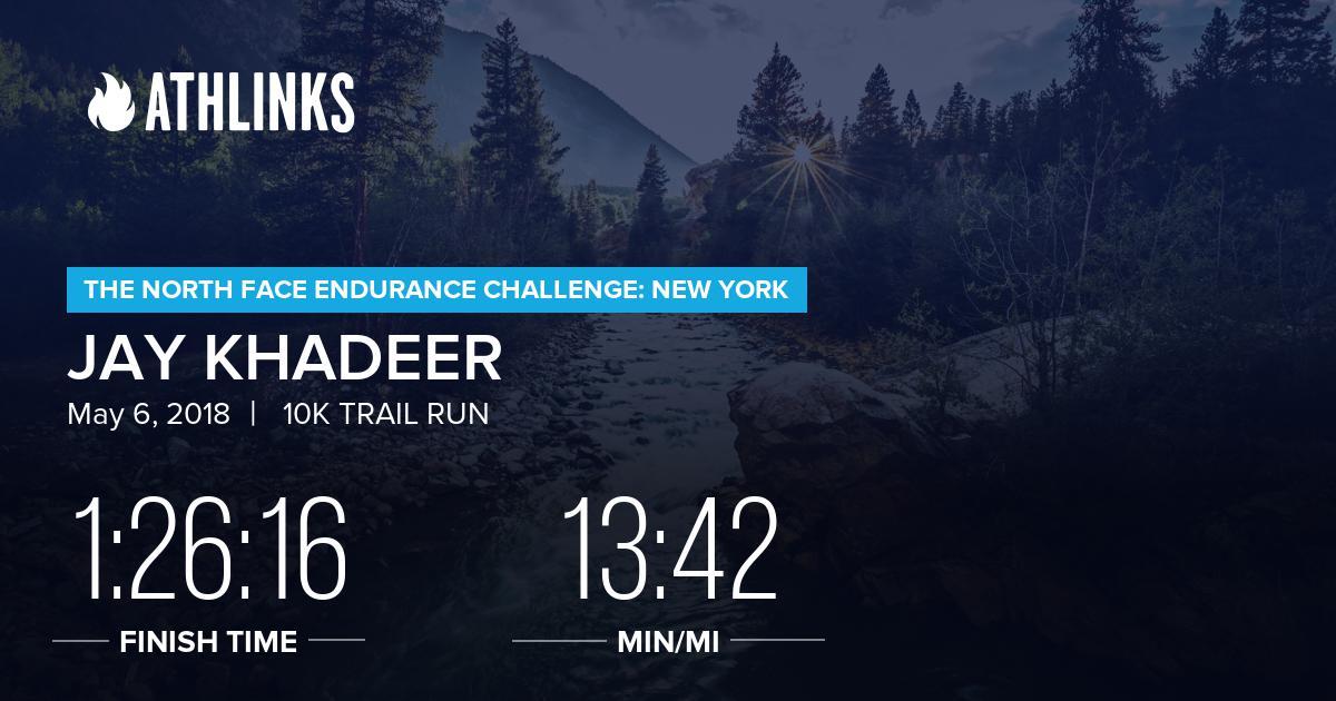 Jay Khadeers Race Results