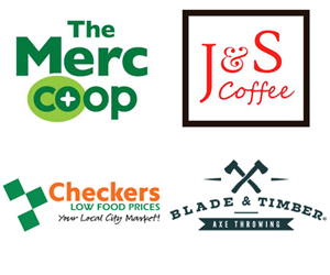 J&S Coffee, Checkers, Blade & Timber, The Merc