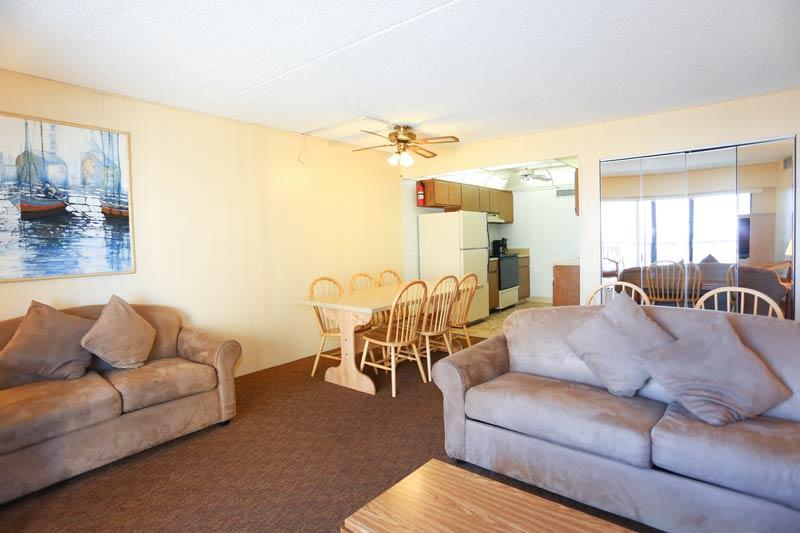 SeaTime 3bd condo living area