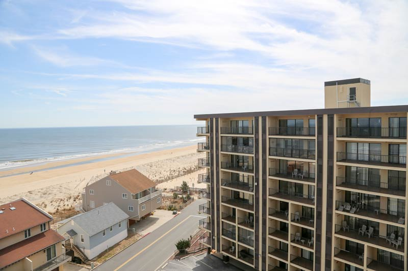 SeaTime Condominuims Ocean City MD balcony view