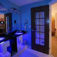 Deluxe bathroom at night