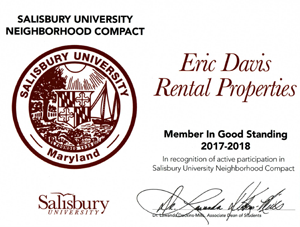 Salisbury University Approved Rentals