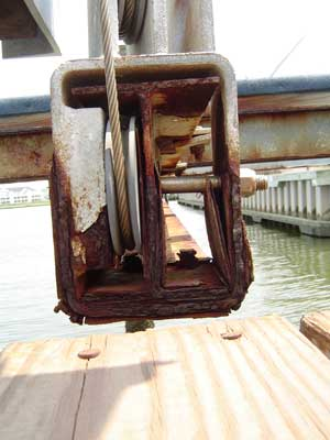 Rusted Boat Lift