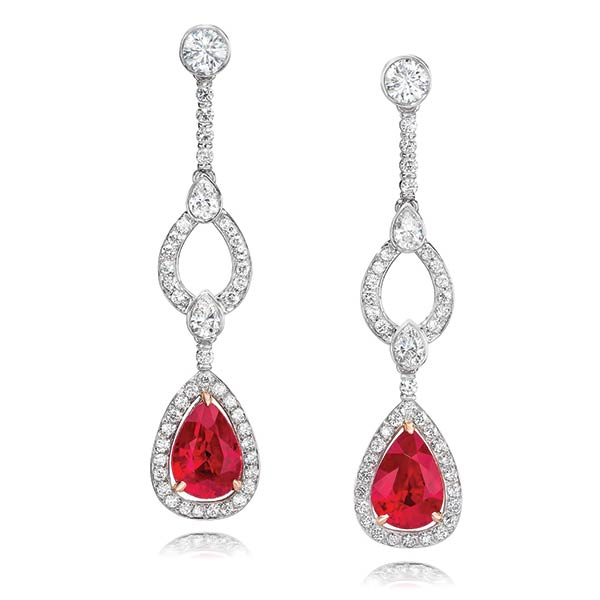 Gem Platinum Earrings