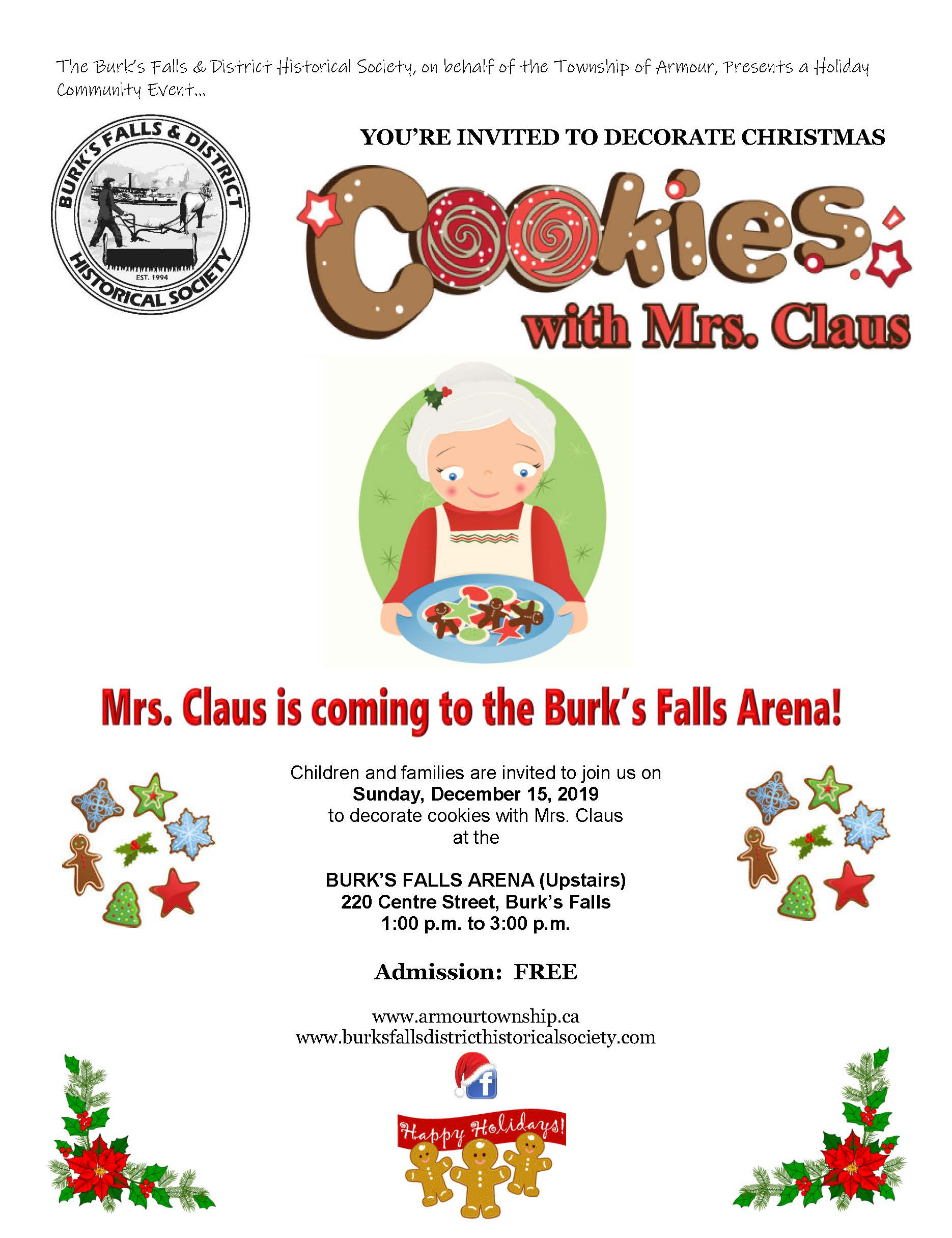 You're Invited to Decorate Cookies with Mrs. Claus