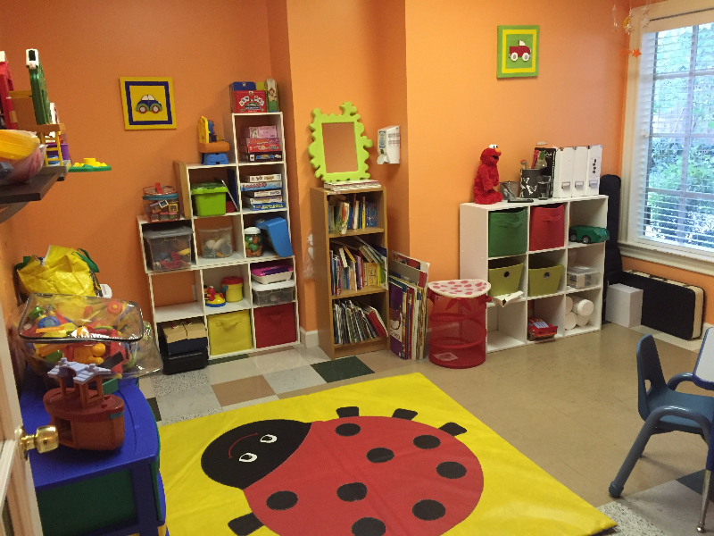 sunny speech therapy treatment room