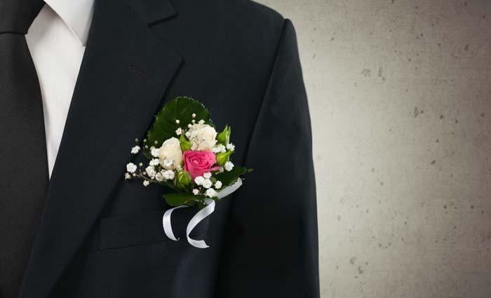 Tuxedos closeup of flower