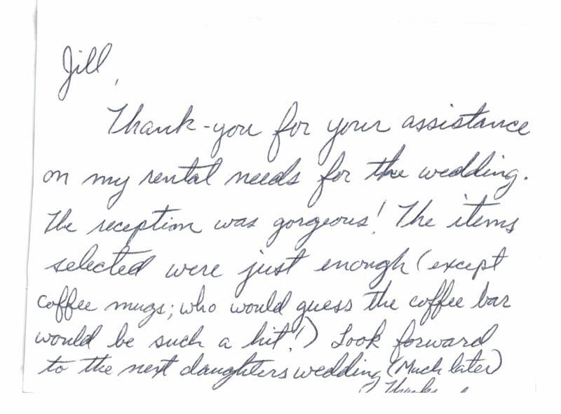 Wedding customer testimonial