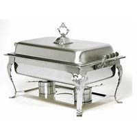 Oblong Chafer with Wood Handles rentals