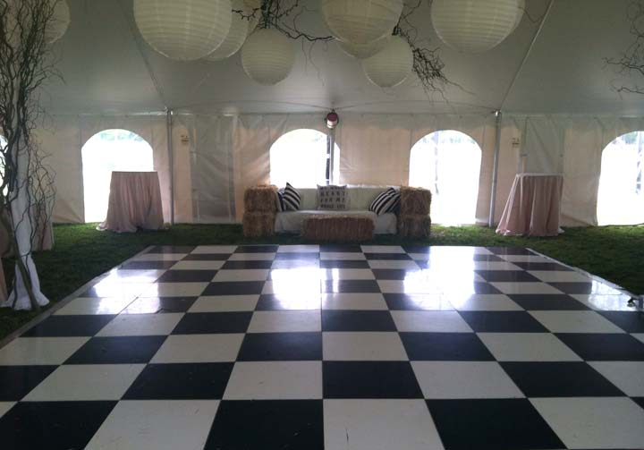 Black and White checkered dance floor