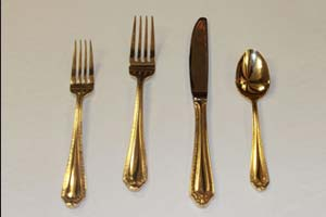 Gold style flatware