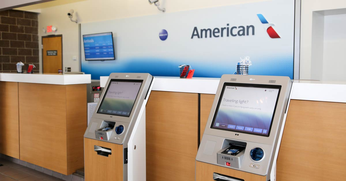 American Airlines checkin counter at Salisbury Regional Airport