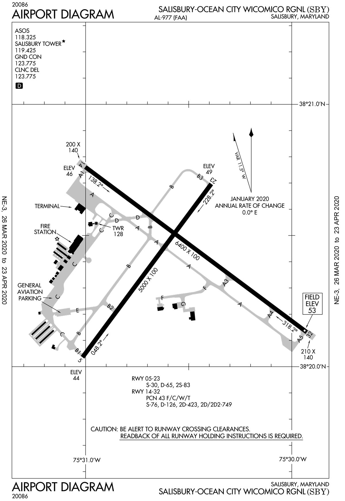 Salisbury Regional Airport overview diagram