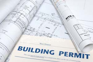 Restaurant construction blueprint