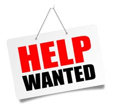 Hardscape Laborer Help Wanted sign
