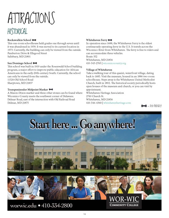Visitors Guide Page
