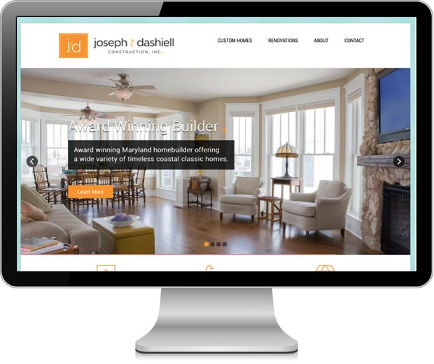 Joseph T Dashiell Construction Inc website pictured in an iMac
