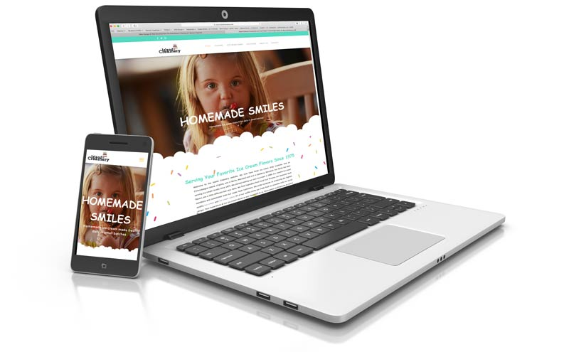 Responsive website design displayed on various devices