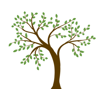 Spring tree graphic