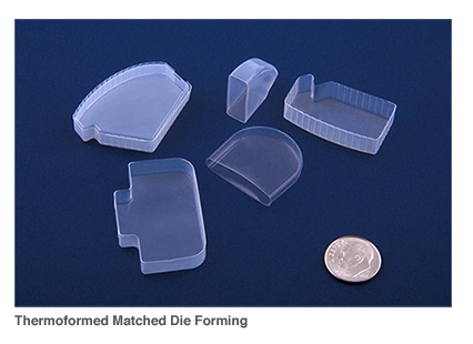 thermoformed matched die forming