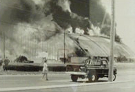 1977 photo of Civic Center fire in Salisbury MD