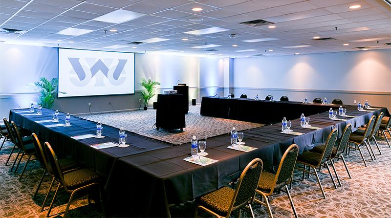 Corporate meeting setup