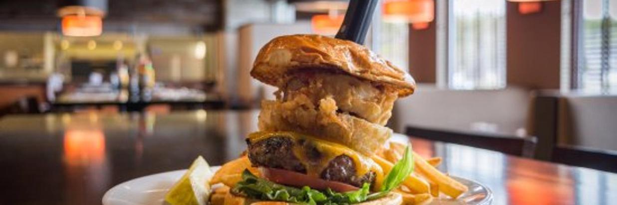 craft burger on bun