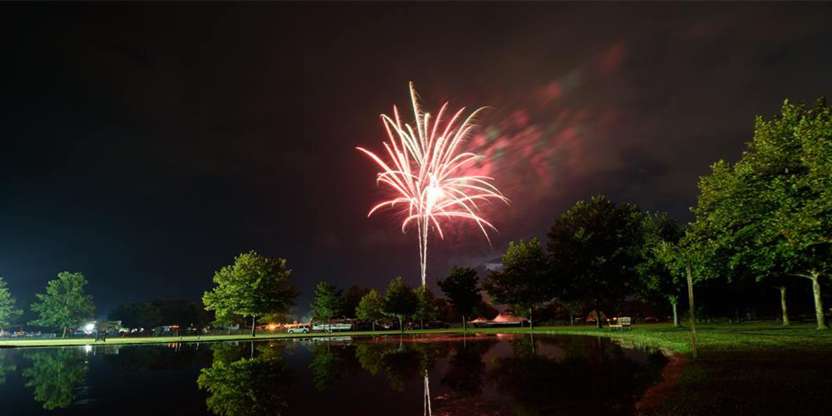 Fireworks on Friday night, sponsored by Perdue